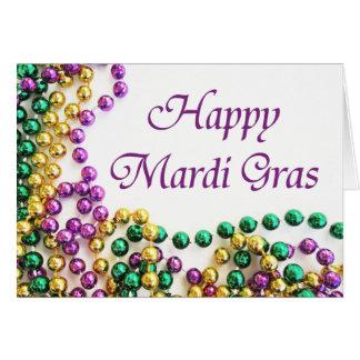Kaarten van Mardi Gras van parels de Gelukkige