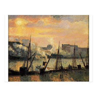 Kade in de Zonsondergang van Rouen door Camille Briefkaart
