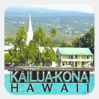 Kailua-Kona Vierkante Sticker