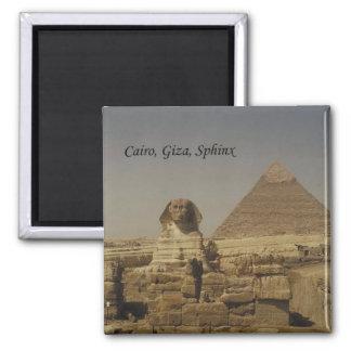 Kaïro, Giza, de Sfinx (St.K.) Vierkante Magneet