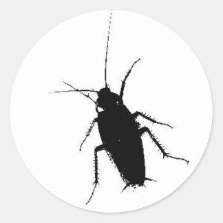kakkerlak ronde sticker
