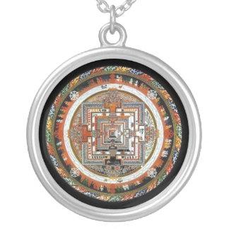 Kalachakra Mandala Zilver Vergulden Ketting