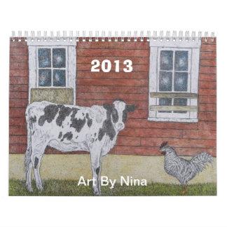 KALENDER 2013, Kunst door Nina
