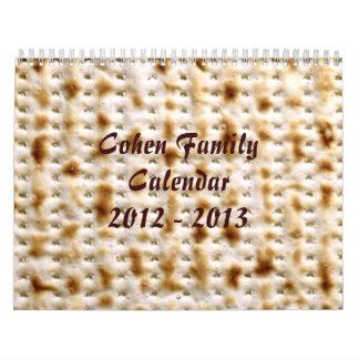 Kalender van de Muur Matzo van de DOUANE de Joodse