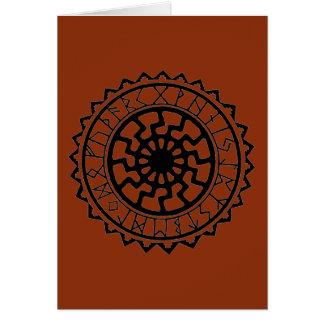 Kalender van de Rune van de Zon van Viking de Briefkaarten 0