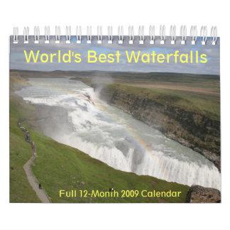 Kalender van de Watervallen 2009 van de wereld