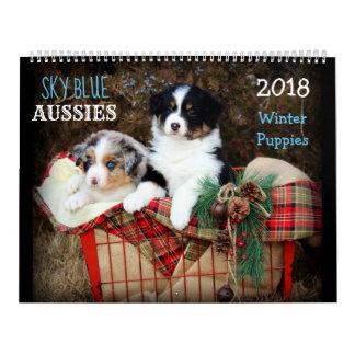 Kalender van het Puppy 2018 van de WINTER Aussies