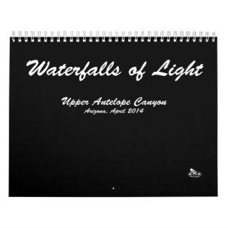 Kalender, Watervallen van Licht, de Foto's van het Kalender