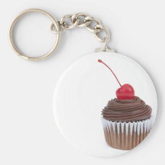 Kalme Cupcake Basic Ronde Button Sleutelhanger