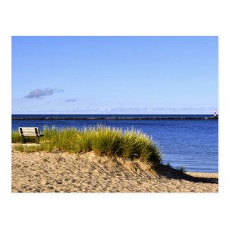 Kalme Ochtend op Meer Michigan Briefkaart