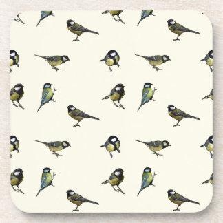Kalmeer Weinig Patroon van het Vogeltje Onderzetters