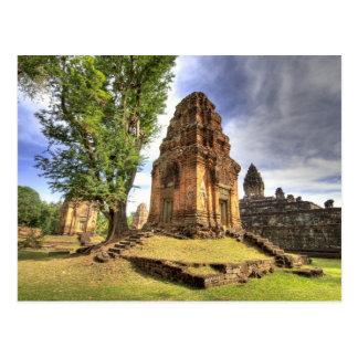Kambodja, Angkor Wat. Uitzicht van Tempel Bakong Briefkaart