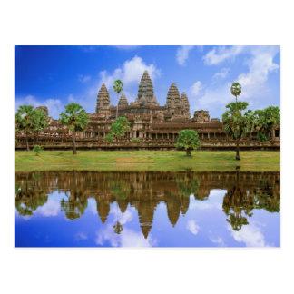 Kambodja, Cambodja, de tempel van Angkor Wat Briefkaart