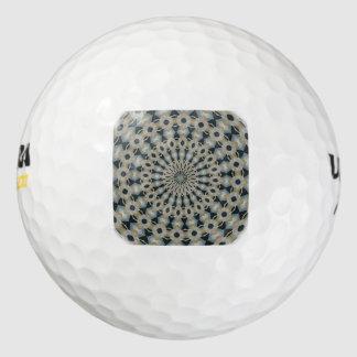 Kameel en Blauwgroen Caleidoscoop Golfballen