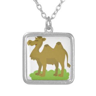 kameel lang lopen zilver vergulden ketting