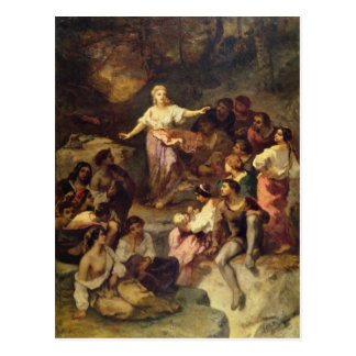 Kamp van de zigeuner, 1848 briefkaart