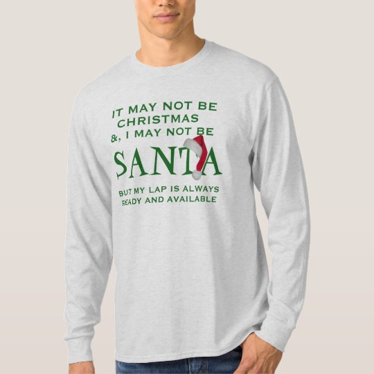 kan de t-shirtontwerp van santa geen grappig t shirt