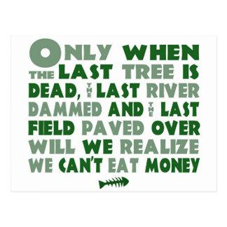 Kan geen Geld eten Briefkaart