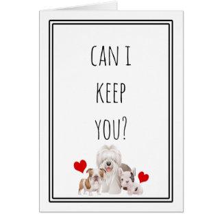 Kan ik u houden? Grappig Valentijn Wenskaart
