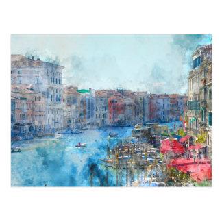 Kanaal Grande in Venetië Italië Briefkaart