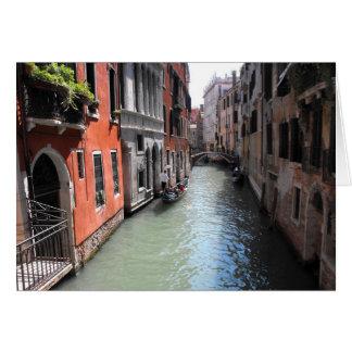Kanaal in Venetië in Italië Kaart