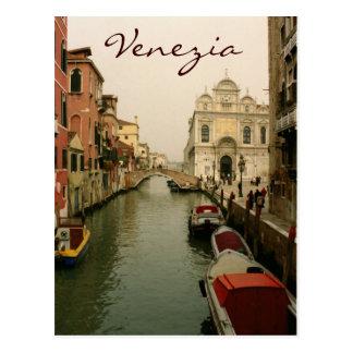 Kanaal van het Briefkaart van Venetië