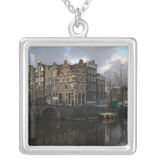 Kanalen in Amsterdam Ketting Vierkant Hangertje