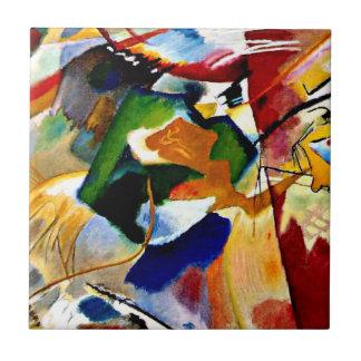 Kandinsky die - met Groen Centrum schilderen Tegeltje