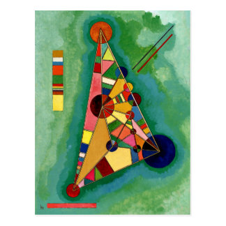 Kandinsky - Multicolored Driehoek Briefkaart