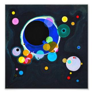 Kandinsky Verscheidene Cirkels drukt Foto Print