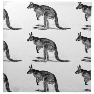 kangoeroe in dozen gedaan - in vierkant katoenen servet
