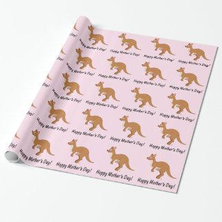 Kangoeroes: Mamma en Joey: Gelukkig Moederdag Inpakpapier