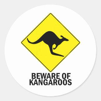 Kangoeroes Ronde Sticker