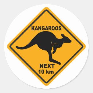 Kangoeroes Volgende 10 km Ronde Sticker