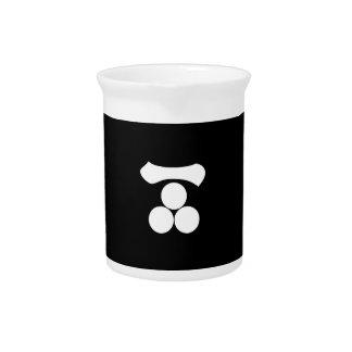 Kanji cijfer één en drie sterren drink pitchers