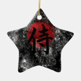 Kanji Samoeraien Grunge 2 Keramisch Ster Ornament