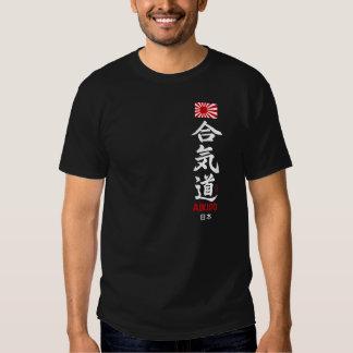 Kanji van Aikido het Japanse Donkere Overhemd van Shirt