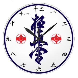 Kanji van de Karate van Kyokushin Klok