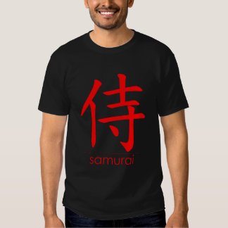 Kanji van samoeraien Rood • Fundamentele Donkere T Shirt