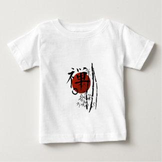 Kanji Zen met Enso en Bamboe Baby T Shirts