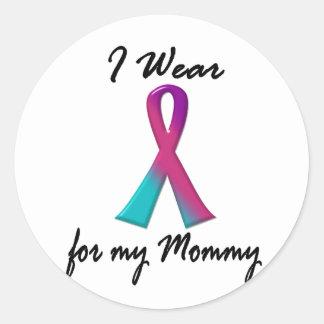 Kanker I DRAAG LINT 1 van de schildklier van de Ronde Sticker