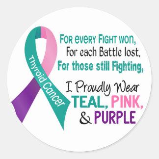 Kanker I trots Draag Blauwgroen Paars Roze 1 van Ronde Sticker