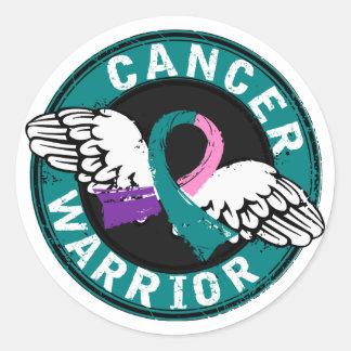 Kanker van de Schildklier van de strijder 14c Ronde Sticker