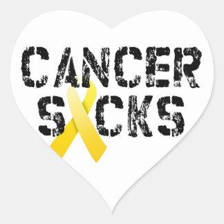 Kanker zuigt - het Lint van Kanker van Kinderjaren Hart Sticker