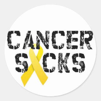 Kanker zuigt - het Lint van Kanker van Kinderjaren Ronde Sticker