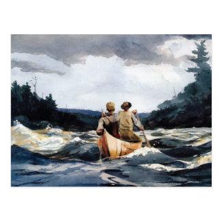 Kano in Stroomversnelling door Winslow Homer Briefkaart
