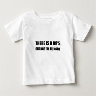 Kans ben ik Hongerig Baby T Shirts