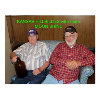 Kansas Hillbillies met daar Maan glanst BRIEFKAART