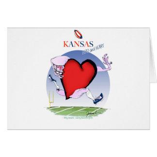 Kansas hoofdhart, tony fernandes briefkaarten 0