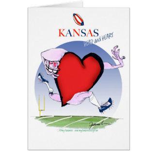 Kansas hoofdhart, tony fernandes wenskaart